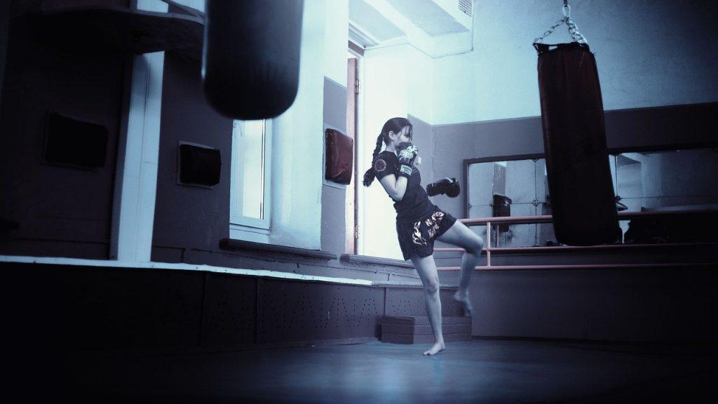 kickboxer, girl, kickboxing